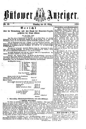 Bütower Anzeiger vom 18.03.1890