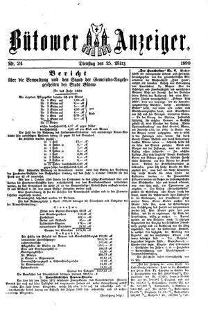 Bütower Anzeiger vom 25.03.1890