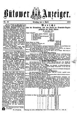 Bütower Anzeiger vom 01.04.1890