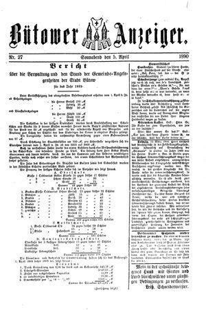 Bütower Anzeiger vom 05.04.1890