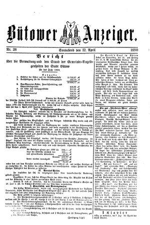 Bütower Anzeiger vom 12.04.1890