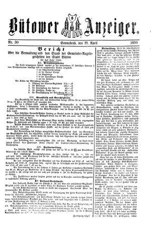 Bütower Anzeiger vom 19.04.1890