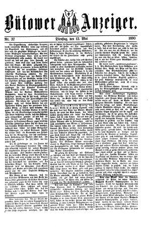 Bütower Anzeiger vom 13.05.1890