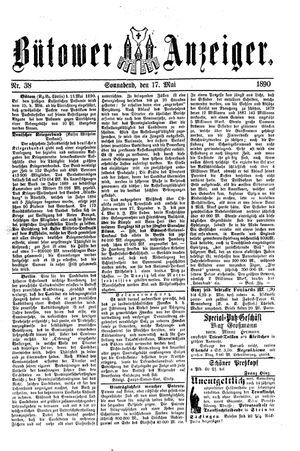 Bütower Anzeiger vom 17.05.1890