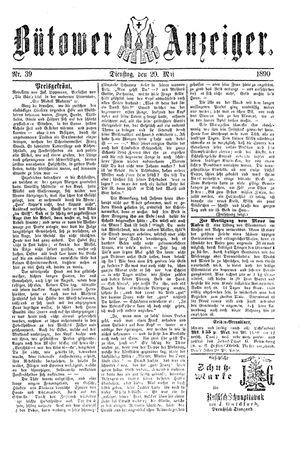 Bütower Anzeiger vom 20.05.1890
