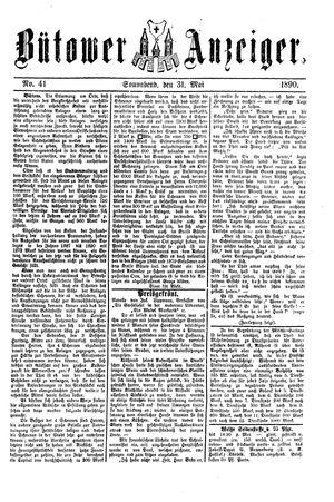 Bütower Anzeiger vom 31.05.1890