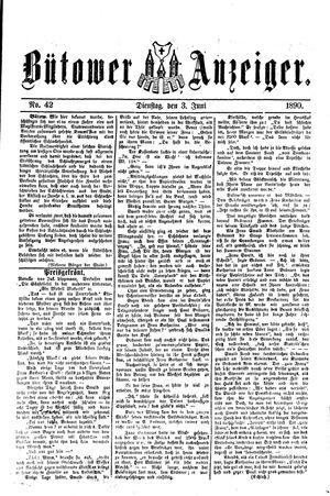 Bütower Anzeiger vom 03.06.1890