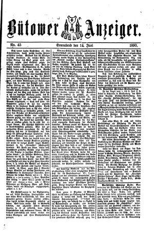 Bütower Anzeiger vom 14.06.1890