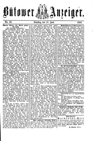 Bütower Anzeiger vom 17.06.1890