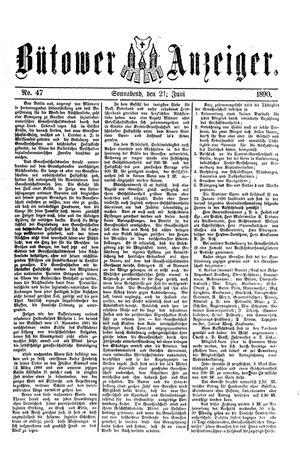 Bütower Anzeiger vom 21.06.1890