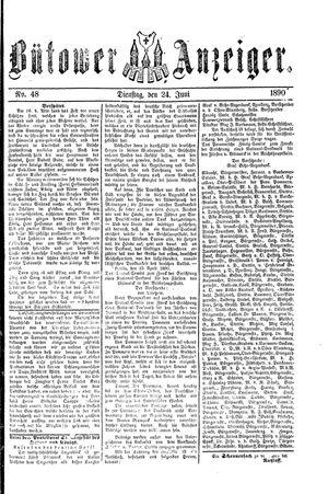 Bütower Anzeiger vom 24.06.1890