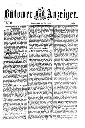 Bütower Anzeiger vom 28.06.1890