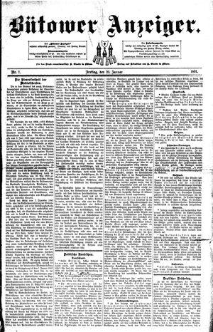 Bütower Anzeiger vom 23.01.1891