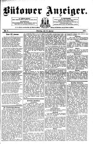 Bütower Anzeiger vom 27.01.1891