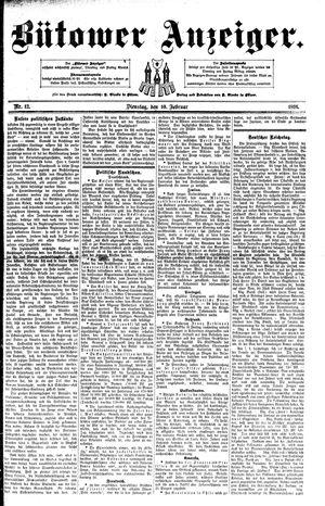 Bütower Anzeiger vom 10.02.1891