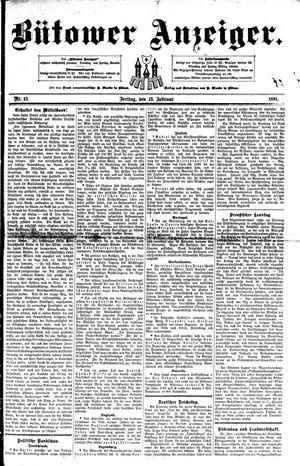 Bütower Anzeiger vom 13.02.1891
