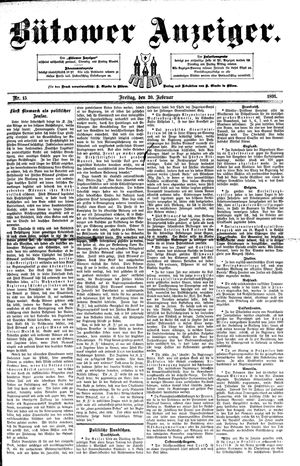 Bütower Anzeiger on Feb 20, 1891
