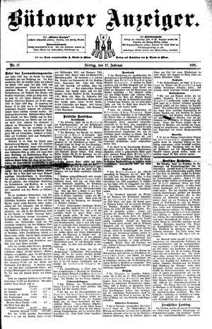Bütower Anzeiger vom 27.02.1891