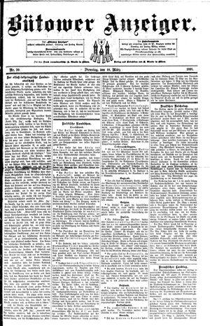 Bütower Anzeiger vom 10.03.1891