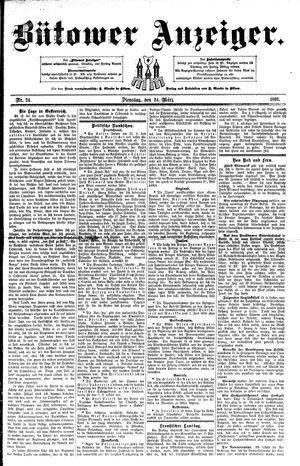 Bütower Anzeiger vom 24.03.1891