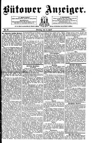 Bütower Anzeiger vom 14.04.1891