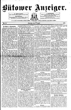 Bütower Anzeiger vom 21.04.1891