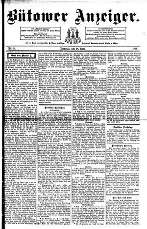 Bütower Anzeiger vom 28.04.1891