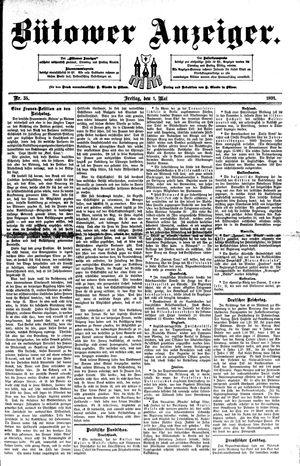 Bütower Anzeiger vom 01.05.1891