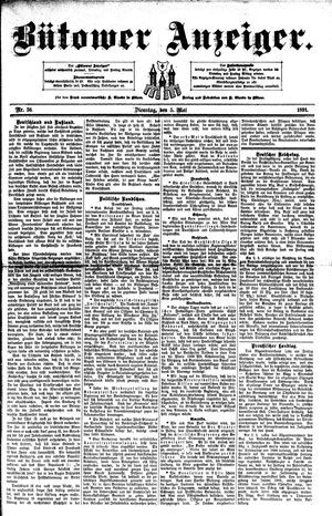 Bütower Anzeiger on May 5, 1891