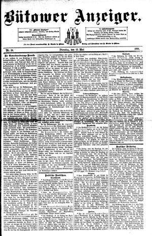 Bütower Anzeiger vom 12.05.1891