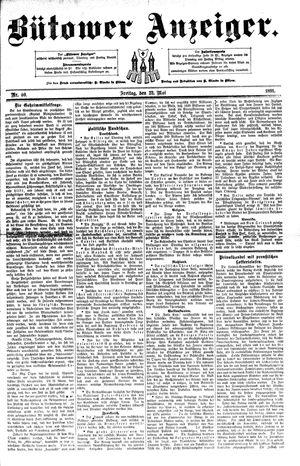 Bütower Anzeiger vom 22.05.1891