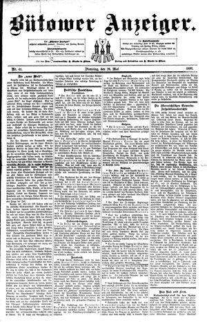 Bütower Anzeiger vom 26.05.1891