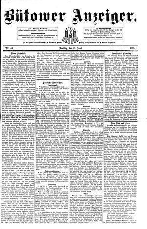 Bütower Anzeiger vom 12.06.1891