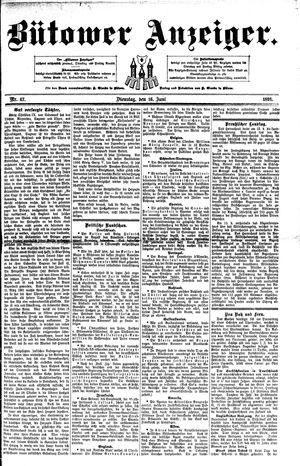 Bütower Anzeiger vom 16.06.1891