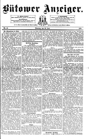 Bütower Anzeiger vom 23.06.1891