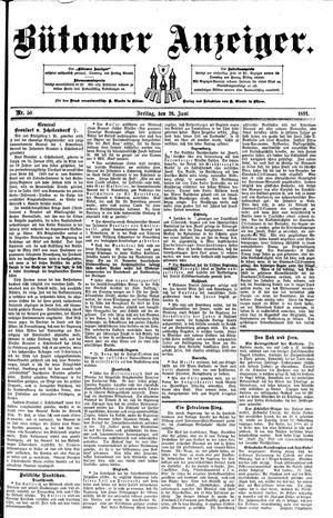 Bütower Anzeiger vom 26.06.1891