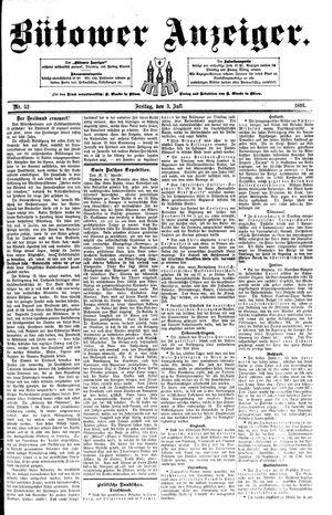 Bütower Anzeiger vom 03.07.1891