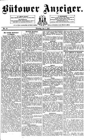 Bütower Anzeiger vom 07.07.1891