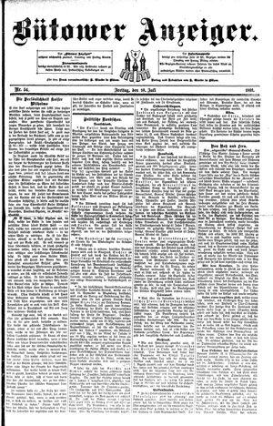 Bütower Anzeiger vom 10.07.1891