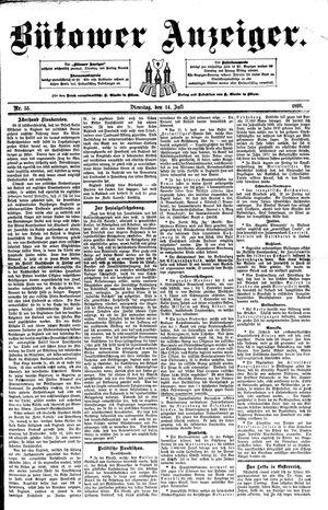 Bütower Anzeiger vom 14.07.1891