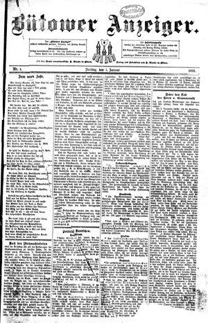 Bütower Anzeiger vom 01.01.1892