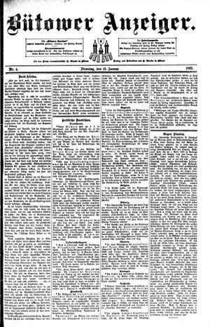 Bütower Anzeiger vom 12.01.1892