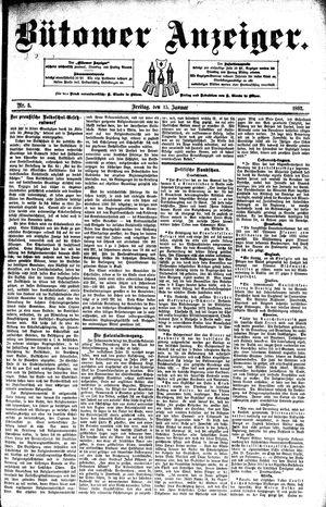 Bütower Anzeiger vom 15.01.1892