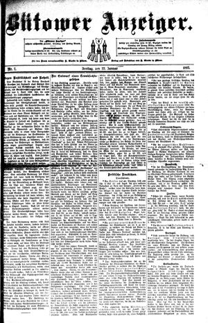 Bütower Anzeiger vom 22.01.1892