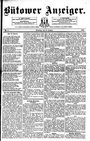 Bütower Anzeiger vom 26.01.1892