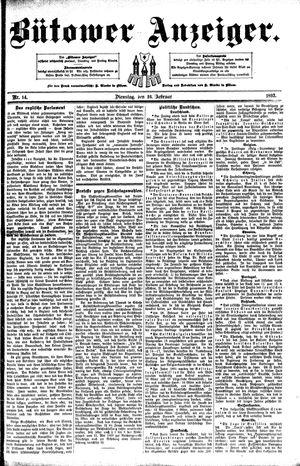 Bütower Anzeiger vom 16.02.1892