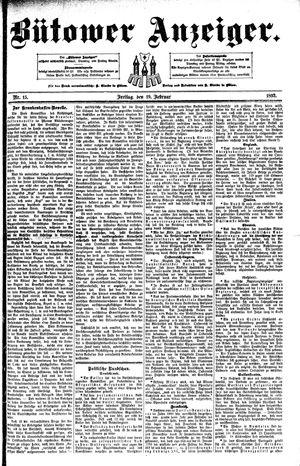 Bütower Anzeiger vom 19.02.1892