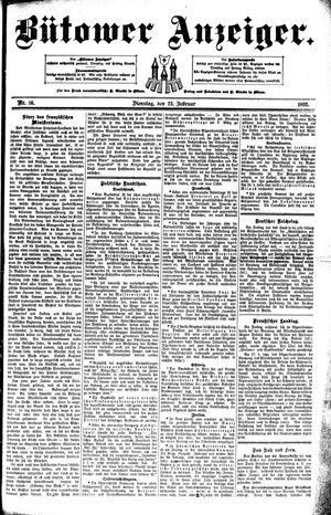 Bütower Anzeiger vom 23.02.1892