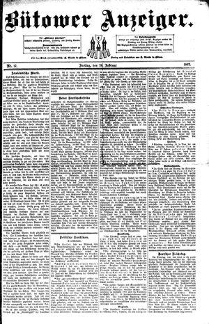 Bütower Anzeiger vom 26.02.1892