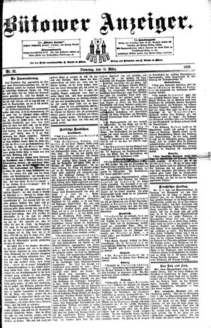 Bütower Anzeiger vom 15.03.1892